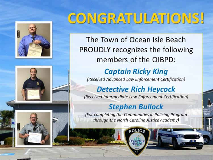 Police Department Recognition